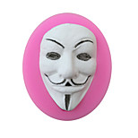 Death Mask Style Sugar Candy Fondant Cake Molds  For The Kitchen Baking Molds