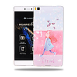 The girl  Pattern Soft TPU Back Cover Case for Huawei Ascend P8