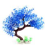 Artificial Plastic Tree Plant Decor Aquarium Fish Tank Water Grass Ornament Blue