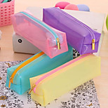 Never Deformation Bulk Candy Color Transparent Pencil Pencil Box Jelly Cute Simple  Pen Boxes