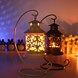 Classic Originality European Morocco Hollow-Out Pavilion, Wrought Iron Candlestick
