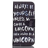 Finger English Painted PU Phone Case for iphone5SE