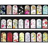 5pcs Random Mix Desings Flowers Nail Art Water Stickers Full Cover Water Transfer Nail Decals Decoration Tools