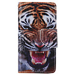 Tiger Painted PU Phone Case for Sony Xperia Z5 Compact/Z5