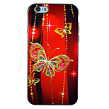 Ruby Butterfly IMD Printed TPU Soft Back Cover for iPhone 6Plus/6SPlus 5.5
