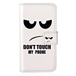 Don't Touch My Phone Pattern Embossed PU Leather Case for iPod Touch5