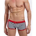 Men's Foreign Trade Striped Boxer Swim Trunks