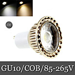 1pcs Ding Yao GU10 6W 1LED COB 300lm Warm White / Cool White Recessed Retrofit Decorative LED Spotlight AC 85-265V