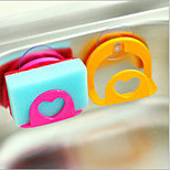 3 PCS Kitchen multipurpose suction wall cleaning sponge hanging washing towel cloth rack storage rack sucker rack