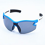 blue and white sports glasses