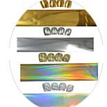 1pcs 100cm Gold/Silver/Laser Gold/Laser Silver Nail Art Transfer Foils Glitter Stickers  Nail Art Beauty  NC272