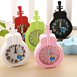 Creative Plastic  Mini violin  Desktop Needle Quartz Alarm Clock (Random Color)