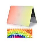 2  in 1 Rainbow Colorful Plastic Full Body  Case +Keyboard Cover for MacBook Pro 13