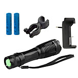 Lanternas LED LED 5 Modo 4000 LumensFoco Ajustável / Prova-de-Água / Recarregável / Resistente ao Impacto / Superfície Antiderrapante /