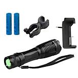 Linternas LED LED 5 Modo 4000 LumensEnfoque Ajustable / A Prueba de Agua / Recargable / Resistente a Golpes / Empuñadura Anti Deslice /
