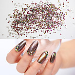 50PCS 2MM Color Intrigue Jewel Nail Art Decoration