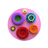 Button Style Sugar Candy Fondant Cake Molds  For The Kitchen Baking Molds