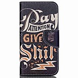 Cross Pattern Leather Wallet Case for Wiko Rainbow Jam 4G - English Characters