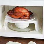 bandeja de placa de cobertura cozinha microondas camada dupla cremalheira suporte do prato