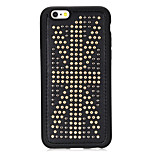 Rivet Leather Series USA flag Pattern Golden Round-Dots Soft TPU Case for iPhone6/6S