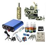 tatuagem kit jh573 1 máquina com apertos de alimentação 3x10 ml de tinta