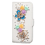 New flip 4.7 inch PU leather Strobe diamond phone holster suitable for iphone6 / 6s