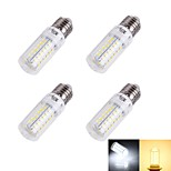 YouOKLight® 4PCS E27 4W 56*SMD5730 Warm white 3000K/ White 6000K  Light CRI>80 LED Corn Bulbs Lamp (220-240V)
