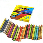 5PCS 24 Color Color Crayons Non-Toxic Children Painting Pen(Style random)