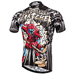 XINTOWN Mountain Bike Red Skull Sportwear Pro Team Cycling Jerseys Short Sleeve Bicycle Jersey