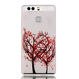 Luminous Night Red Flower Tree Pattern TPU Soft Case for Huawei Ascend P9