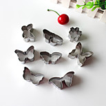 8PCS Butterfly  Style Stainless Steel Cake & Cookie Cutters Molds