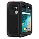 LOVE MEI Powerful Metal Shockproof Gorilla Glass Hybrid Armor Case LG G5