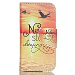 Patterned Leather Card Slot Cover for iPod Touch 5/6 with Stand - Never Stop Dreaming