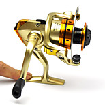Champagne Metal Carp Fishing Spinning Reel 10BB Interchangeable 5.1:1 MR500