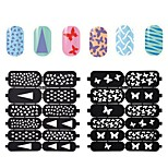 10X12PCS New Style Hollow Out DIY Paster Nail Art Diecut Manicure Stencils Guide
