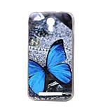 borboleta azul nova TPU macio tampa da caixa traseira para Doogee valencia 2 Y100 telefonia móvel sacos casos