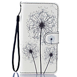 Dandelion Pattern PU Leather Full Body Case with Stand for BQ M 5.0
