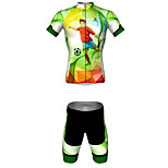 MYKING Men's Cycling Bike Short Sleeve Clothing Set Bicycle Wear Suit Jersey and Shorts Cool Soccer
