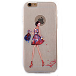 Bag Girl  Diamond Glitter Slim TPU Material Phone Case for iPhone 6 Plus/ 6S  Plus