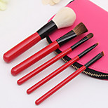5Pcs Loaded Brush Set Makeup Tools Rayon Wool