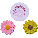 DIY One Hole Sunflower Silicone Mold Fondant Molds Sugar Craft Tools Resin flowers Mould Molds For Cakes