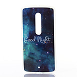 Good Night Pattern TPU Soft Case for Motorola MOTOX Play