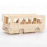 The Bus Car Wood 3D Puzzles Diy Toys