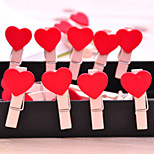 1PC Small Wooden Heart Clips For Paper Photo Pin Hanger DIY Home Deco(Style random)
