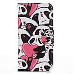 Herz-Panda-PU-Leder mit Standplatzfall für iphone6 / 6s 4.7