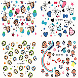 6Pcs/set Monkey Series Nail Sticker Decals Transfer Manicure Tips Nail Art Decorations
