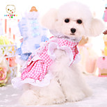 Sweet French Maid Teddy Cotton Dress Clothes for Pet Dogs