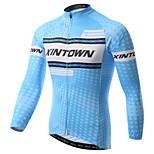 Mailliot(Bleu) deCyclisme/Vélo / Moto-Respirable / Résistant aux ultraviolets / Séchage rapide / mèche / Limite les Bactéries à Manches