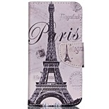 Cross Pattern Leather Wallet Case Cover for Acer Liquid Jade Z - Paris Eiffel Tower
