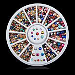 1wheel Metal Colorful Rhinestones Nail Decorations